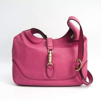 Gucci Pink Leather New Jackie Shoulder Bag (SHA11462)