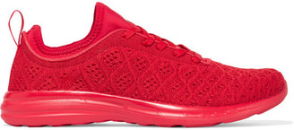 Athletic Propulsion Labs - Techloom Phantom Mesh Sneakers - Red $165 thestylecure.com