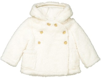 b3cc1edef La Redoute COLLECTIONS Buttoned Coat with Hood, 1 Month-3 Years