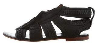 AllSaints Woven Leather Sandals
