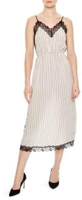 Sandro Sunset Pitt Pinstripe Midi Dress