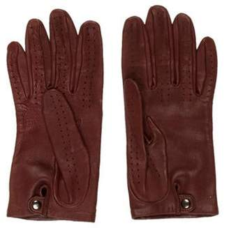Chanel Embellished Lambskin Gloves Brown Embellished Lambskin Gloves