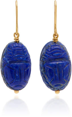 Aurelie Bidermann Scarab Earrings Lapis Lazuli