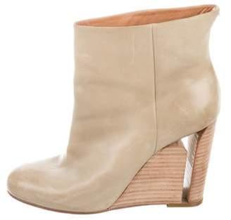 Maison Margiela Leather Wedge Ankle Boots