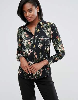 Oasis Floral Print Pajama Shirt $60 thestylecure.com
