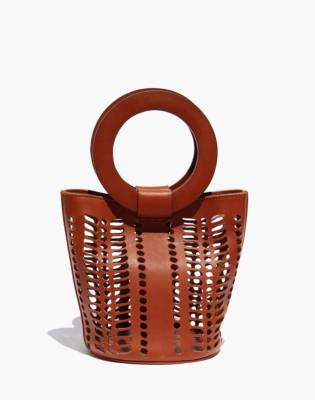 Madewell Modern Weaving Mini Jute Circle Handle Bucket Bag