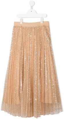 MonnaLisa long sequin skirt