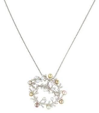 Tara Pearls 18K Pearl & Diamond Cluster Necklace