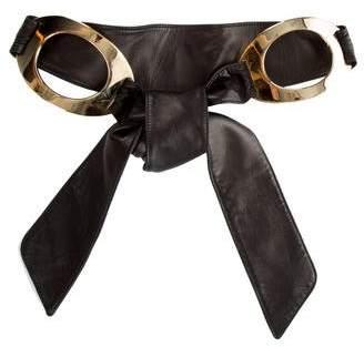 Valentino Wide Leather Waist Belt