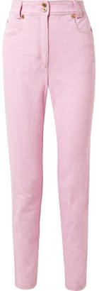 Versace High-rise Slim-leg Jeans - Pink