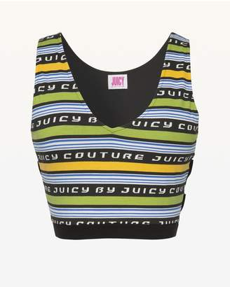 Juicy Couture JXJC Juicy Racer Stripe Crop Tank