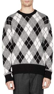 Ami Wool-Blend Jacquard Sweater