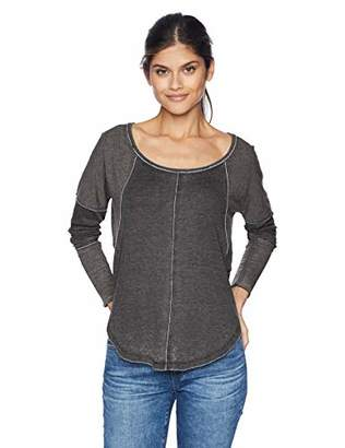 Lucky Brand Women's Exposed Seam Thermal TOP