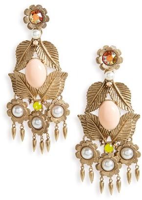 Women's Loren Hope Ivy Crystal Chandelier Earrings $278 thestylecure.com