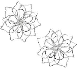 H&M Flower-shaped Earrings - Silver