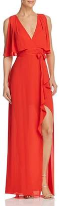 BCBGMAXAZRIA Faux Wrap Gown - 100% Exclusive