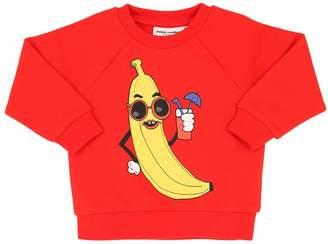 Mini Rodini Banana Print Cotton Sweatshirt