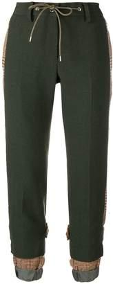 Sacai drawstring cropped trousers