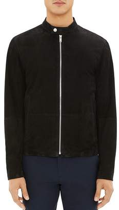 Theory Wynwood Suede Zip-Front Jacket