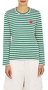 Comme des Garcons Women's Striped Long-Sleeve T-Shirt - Green, White