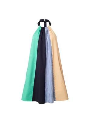 Tibi Color Block Trapeze Dress