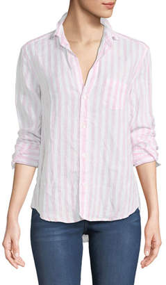 Frank And Eileen Eileen Striped Long-Sleeve Linen Shirt
