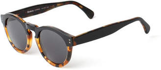 Illesteva Leonard Bi-Color Sunglasses, Black/Tortoise