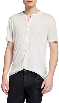 John Varvatos Men's Clifton Short-Sleeve Henley Shirt