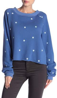 Wildfox Couture Football Star Crop Pullover