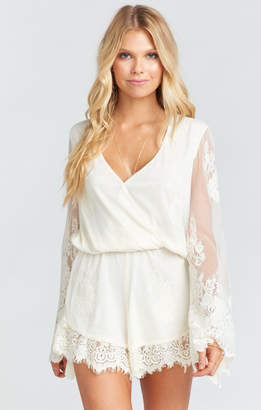 Show Me Your Mumu Loretta Romper ~ Garden Party Lace Cream
