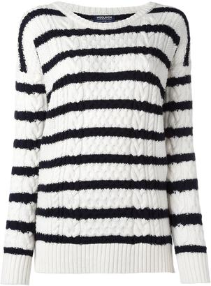 Woolrich round neck striped jumper $227.55 thestylecure.com