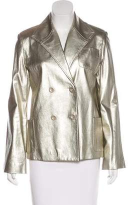 Marc Jacobs Metallic Leather Jacket