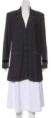 Sonia Rykiel Virgin Wool & Angora-Blend Long Sleeve Cardigan