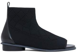 Kelsi Dagger Brooklyn Simon Peep Toe Knit Bootie