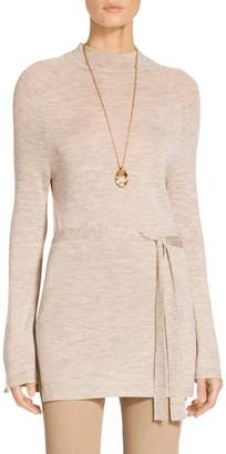 St. John Fine Gauge Knit Bell Sleeve Tunic