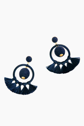 Jocelyn Navy Dreamcatcher Earrings
