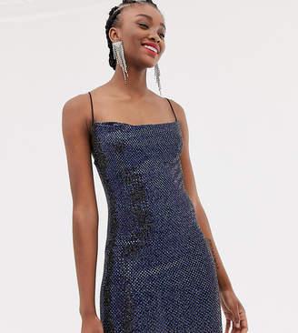 a18121725b81 New Look shimmer cami slip dress in navy