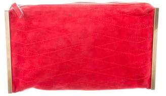 Lanvin Quilted Suede Clutch