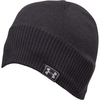 daa57bd992669 Under Armour Mens CG ColdGear Reactor Knitted Beanie Black