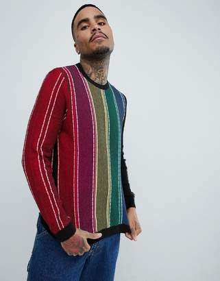 b703784d3fee Vertical Stripe Mens Sweater - ShopStyle