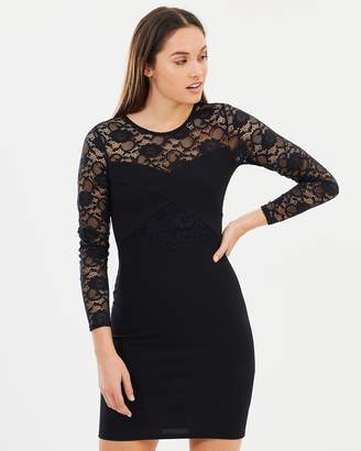 Dorothy Perkins Lace Insert Bandage Bodycon Dress