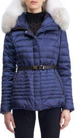 Apres-Ski Down-Fill Jacket with Fox Fur Hood