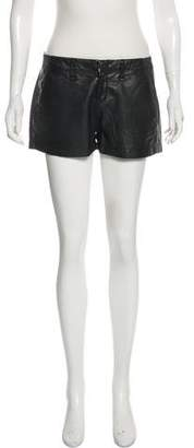 Rag & Bone Leather-Accented High-Rise Shorts
