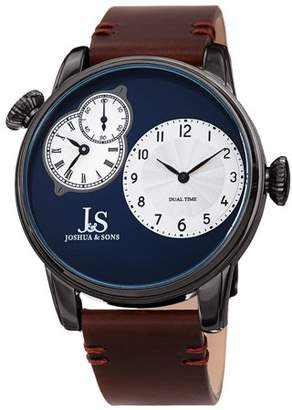 Joshua & Sons Gray Casual Quartz Watch With Leather Strap [JX142GNBR]