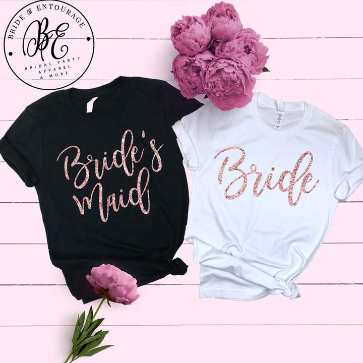 Etsy Bridesmaid T-Shirt - Bridesmaid Proposal Shirts - Maid of Honor - Mother of The Bride - Bachelorett