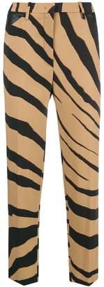 Roberto Cavalli cropped zebra stripe trousers