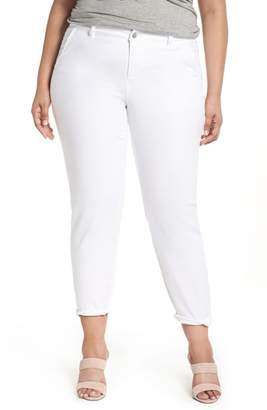 Caslon Boyfriend Stretch Cotton Chino Pants