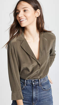 L'Agence Amlina 3/4 Sleeve Pocket Blouse