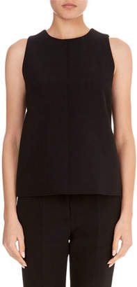 Victoria Beckham Victoria Round-Neck Sleeveless A-Line Wool Crepe Top