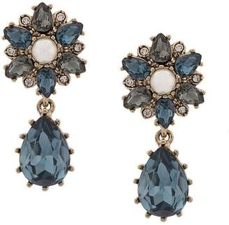 Marchesa embellished flower earrings